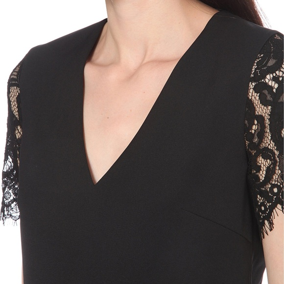 Ted Baker London Tops - TED BAKER   Lace Sleeve Crepe Top   NWT - Size 1